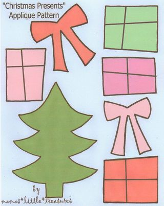 Christmas Presents Applique Pattern_1
