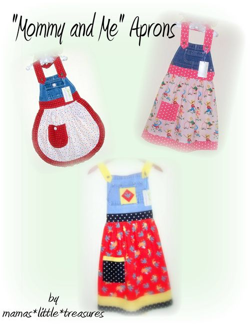 Mommy and Me Aprons Collage