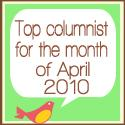 Top Columnist for April Indie Smiles