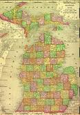 1895 Map of Michigan